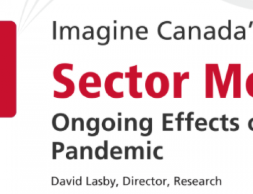 Imagine Canada Sector Monitor report: Ongoing Impacts of the COVID-19 Crisis on the Charitable Sector