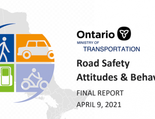 Road Safety Attitudes and Behaviours in Ontario